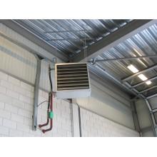Монтаж тепловентилятора на горячей воде